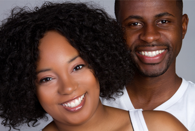 Happy Couple with Treated Gum Recession